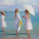 3 girls on beach